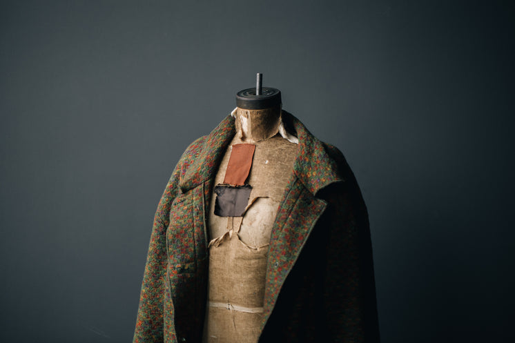 Sewing Body Form With Wool Coat