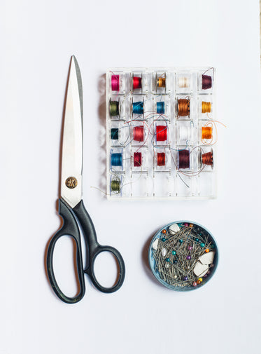 sewing supplies flatlay