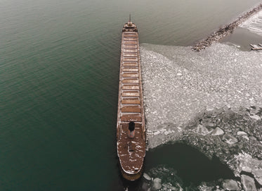 ship stops the ice from floating away
