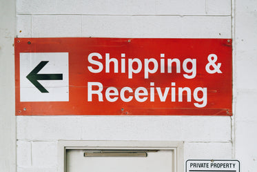 shipping receiving sign