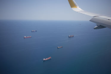 ships seen from air