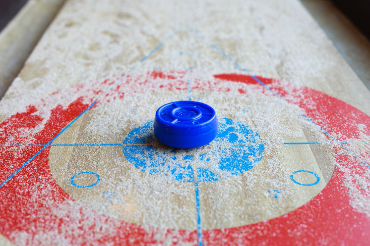 Shuffleboard With Wax Dusting