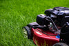 side view of lawn mower