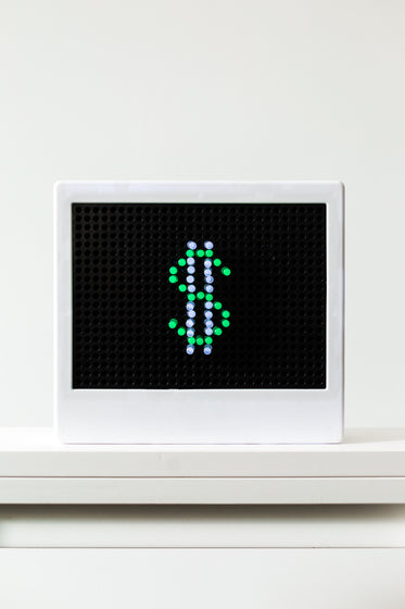small led light with dollar sign