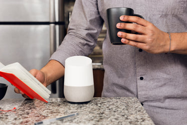 smart home device on counter