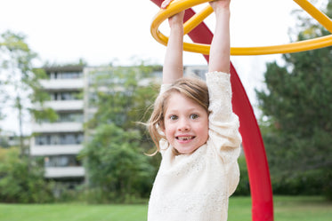 smiling girl at playground