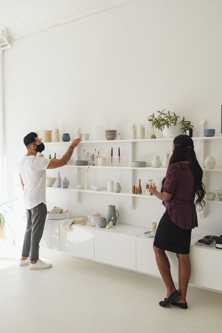 Socially Distant Shopping In Home Decor Store