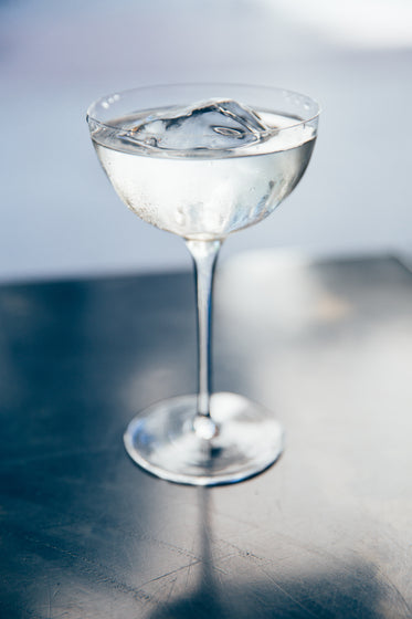 sparkling cocktail in tall glass