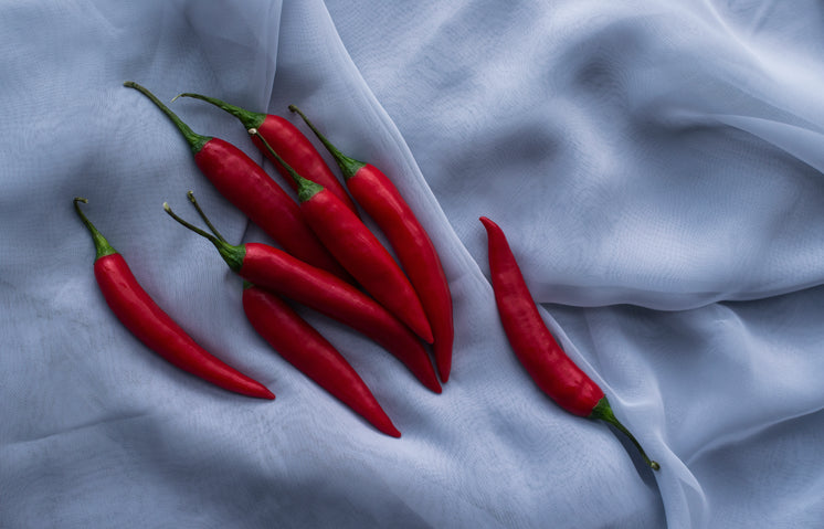 Spicy Red Peppers In A Pile