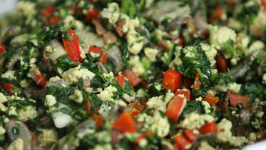 spinach egg salad