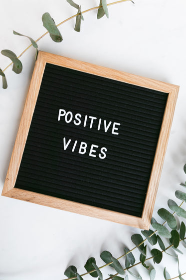 spreading positive vibes with this minimal sign