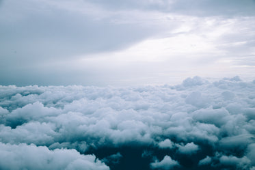 storm clouds from above