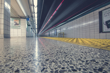subway floor and tunnel