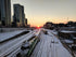 High Res Sunset Over City Rail Yard Picture — Free Images