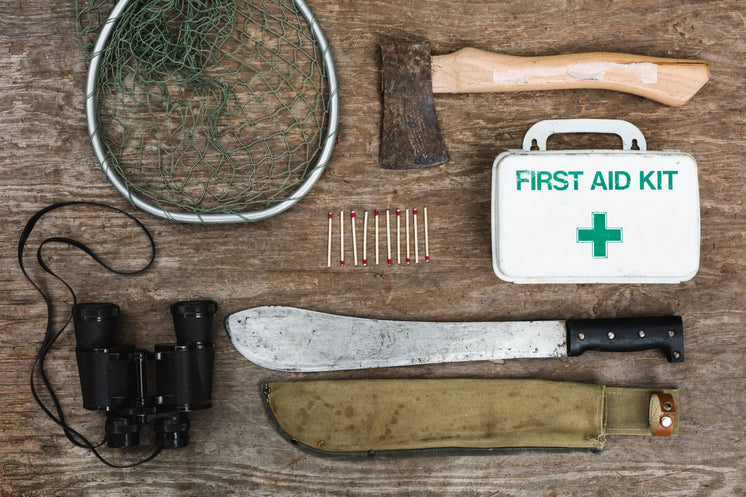 Survival Equipment Flatlay