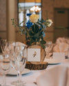 table setting at wedding venue