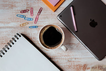 tablet & coffee
