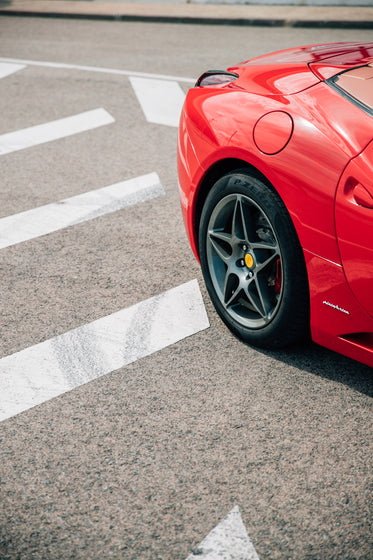 tail of red sports car
