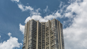 tall condo building with sky