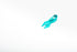 High Res Teal Ribbon Angle Picture — Free Images