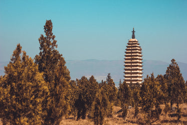 temple by chinese hillside