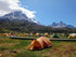 Browse Free HD Images of Tents Surround Bardwalk By Mountains