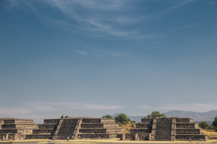 Teotihuacan Temples Under Blue Skyes