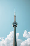 the cn tower in summer