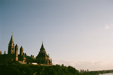 the parliament hill building sits upon a hill
