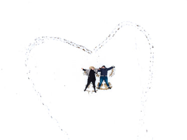 the shape of love in the snow