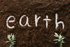 the word earth written in the dirt