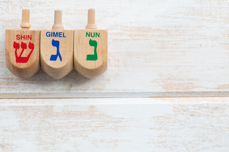 Three Wooden Dreidel