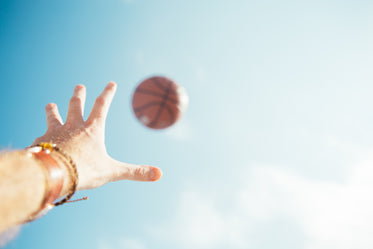 throwing basketball