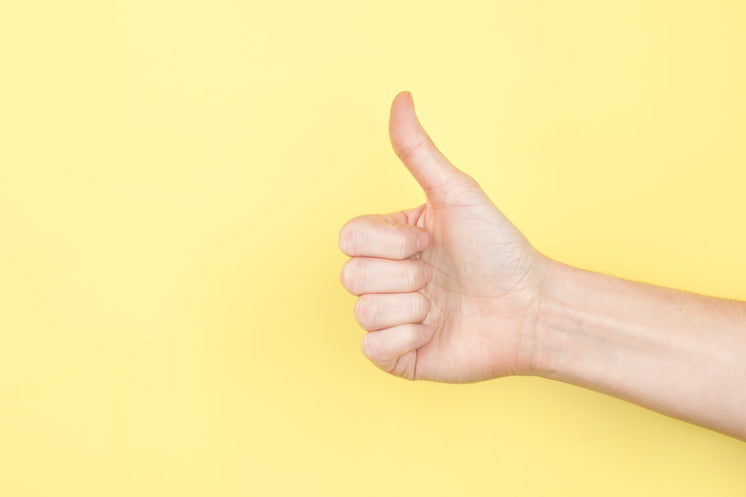 Thumbs Up On Yellow