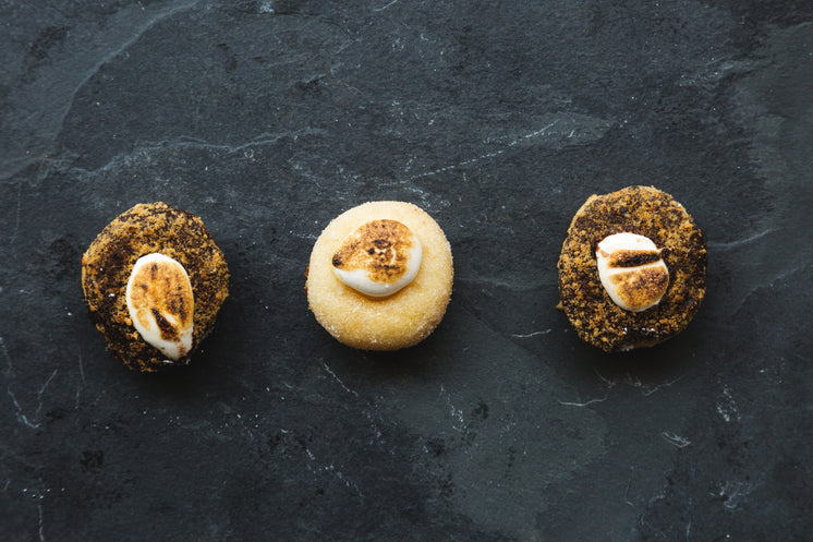 Toasted Marshmallow On Gourmet Donuts
