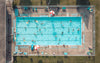 top-down view of pool