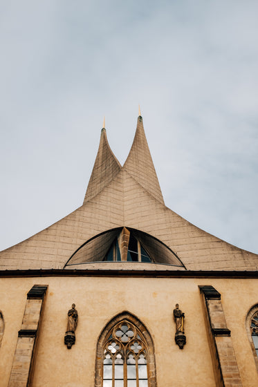 top of a tall pointed church