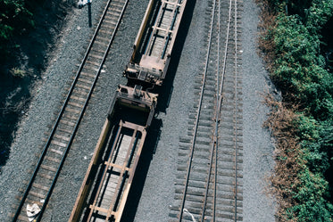 train tracks from overhead