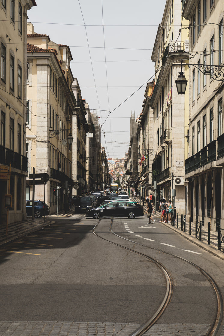 Tram Line In The City