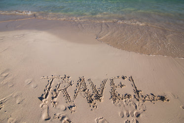 travel written in sand