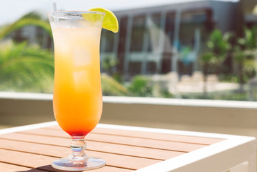 tropical poolside cocktail