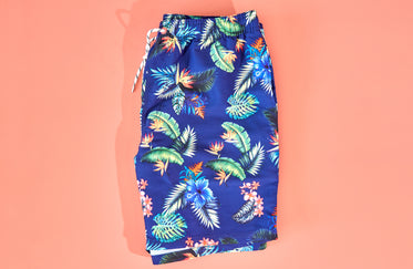 Picture of Tropical Print Mens Swimwear - Free Stock Photo