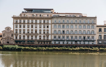 two hotels on the river