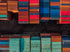 Browse Free HD Images of Two Rows Of Stacked Shipping Containers