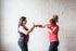 two women shadow boxing