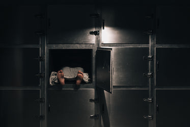 uncovered body in a morgue freezer
