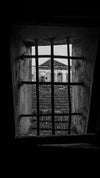 up stairwell through bars