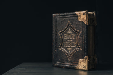 upright leatherbound bible