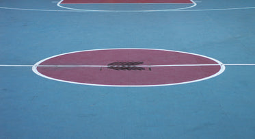 urban basketball court painted