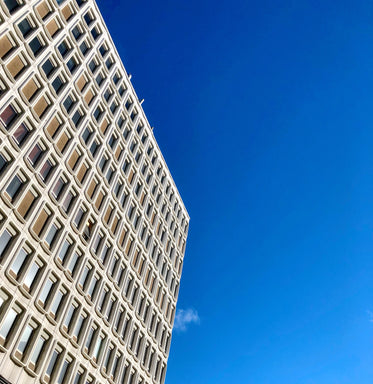 urban mid rise with blue sky